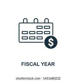 Fiscal Year icon illustration. Creative sign from business management icons collection. Filled flat Fiscal Year icon for computer and mobile. Symbol, logo graphics.