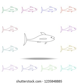 a fish illustration. Element of sea animal for mobile concept and web apps. Thin line a fish illustration can be used for web and mobile. Premium icon on white background