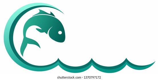 Fish with wave.