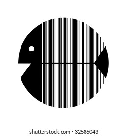 Fish which symbolize bar code