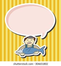 fisherman cartoon, cartoon speech icon