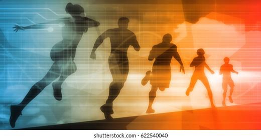 Fitness App Tracker Software Silhouette Illustration 3D Illustration Render