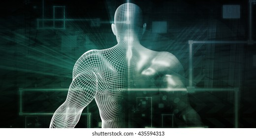 Fitness App Tracker as a Technology Concept of the Future 3d Illustration Render