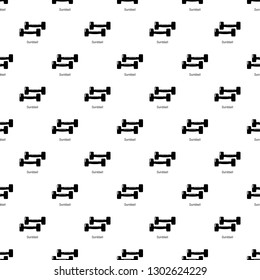 Fitness dumbbell pattern seamless repeating for any web design
