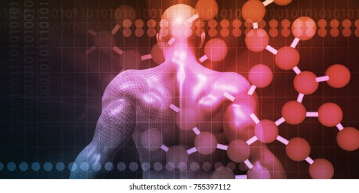 Fitness Technology Science Lifestyle as a Concept 3D Render