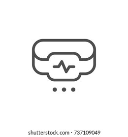 Fitness tracker line icon isolated on white