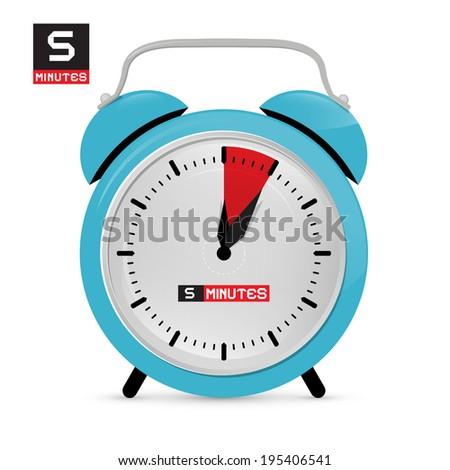 Five 5 Minutes Alarm Clock Illustration Stock Illustration 195406541