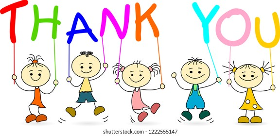 Five kids say Thank You