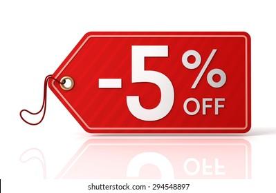 five percent off sale