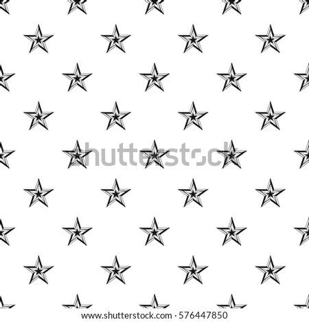 Five Pointed Star Pattern Simple Illustration Of For Web