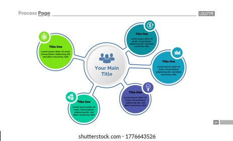 Five steps for success diagram template. Business data. Graph, chart, design. Creative concept for infographic, report. Can be used for topics like management, planning, development