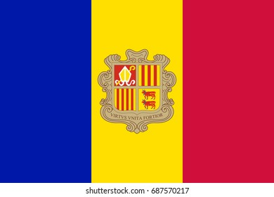 Flag of Andorra National symbol.