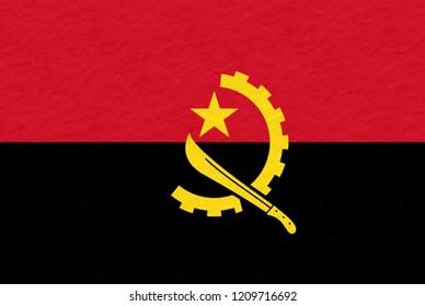 Flag of Angola made of plasticine