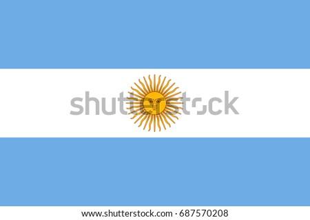 Flag Argentina National Symbol Stock Illustration 687570208