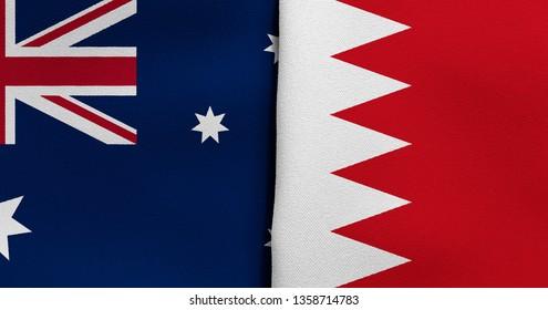 Flag of Australia and Bahrain