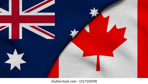 Flag of Australia and Canada