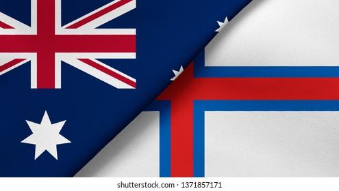 Flag of Australia and Faroe Islands