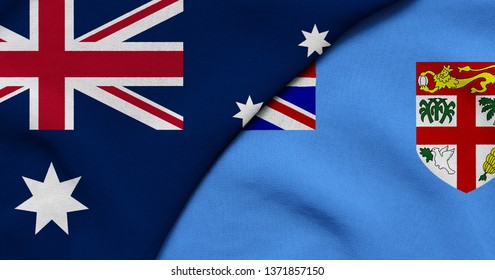 Flag of Australia and Fijian