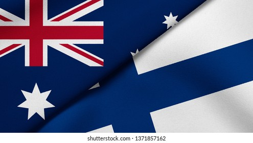 Flag of Australia and Finland