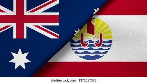 Flag of Australia and French Polynesia