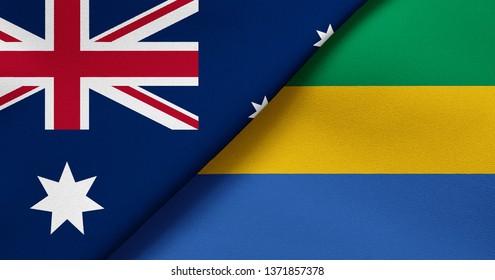 Flag of Australia and Gabon