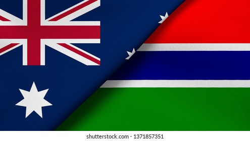 Flag of Australia and Gambia