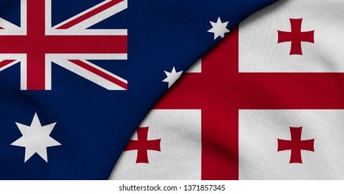 Flag of Australia and Georgia