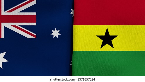 Flag of Australia and Ghana
