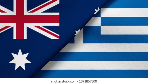 Flag of Australia and Greece