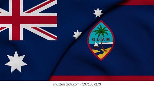 Flag of Australia and Guam