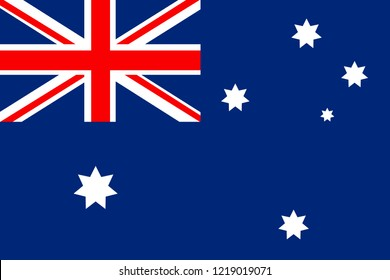 Flag of Australia in minimalistic design and high quality