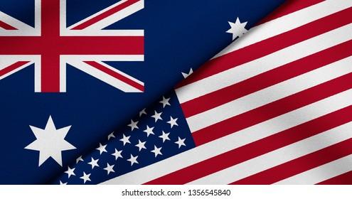 Flag of Australia and USA