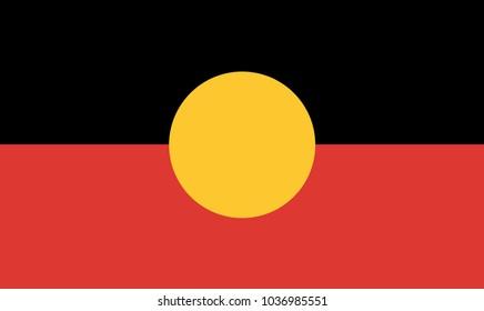 The flag of the Australian Aboriginal people