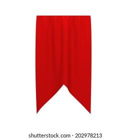 Flag banner. 3d illustration isolated on white background