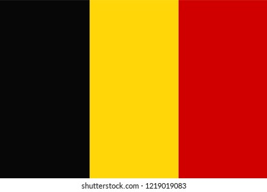 Flag of Belgium in minimalistic design and high quality