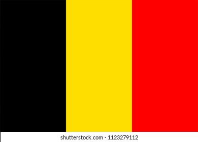 flag belgium red yellow black illustration background isolated