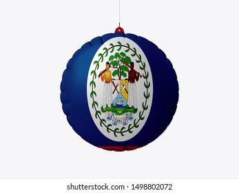 Flag of Belize on wooden board. Paper Flag of Belize on wooden table.