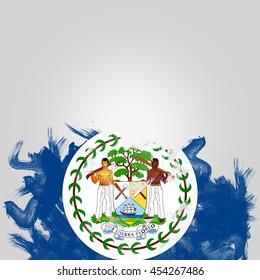 flag of Belizean, digital art Watercolor background effect.
