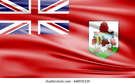 Flag of Bermuda 3D, silk texture
