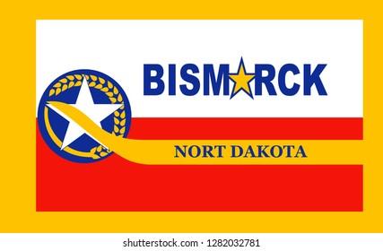 Flag of Bismarck. America