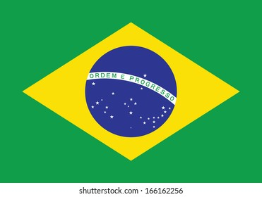 Flag of Brazil. Accurate dimensions, element proportions and colors.