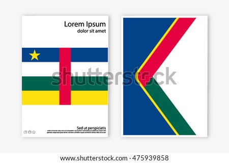Flag Brochure Illustration Country Central African Stock