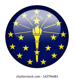 Flag button illustration - Indiana