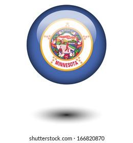 Flag button illustration - Minnesota