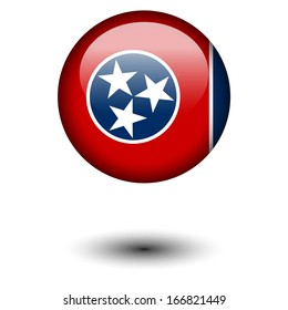 Flag button illustration - Tennessee