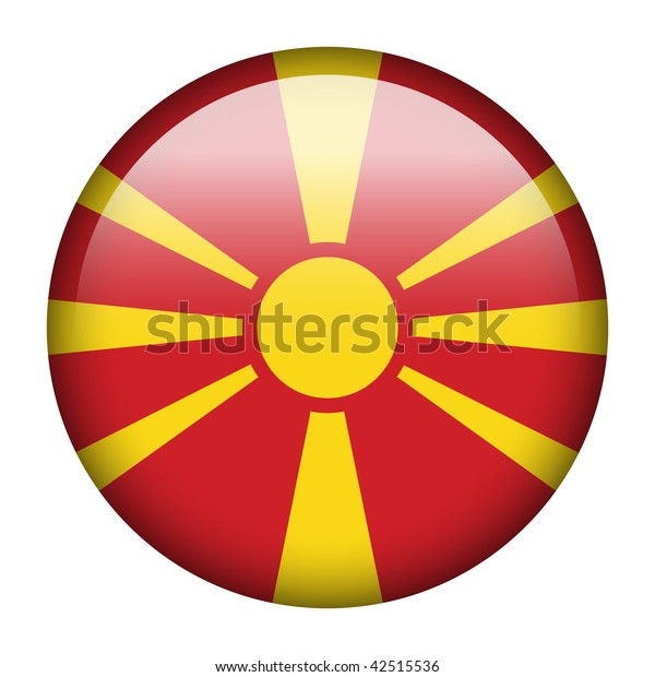 Flag button series of all sovereign countries - Macedonia