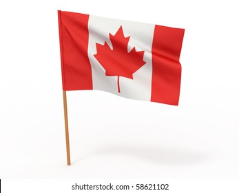 Flag of canada. 3d