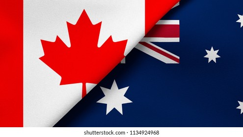 Flag of Canada and Australia