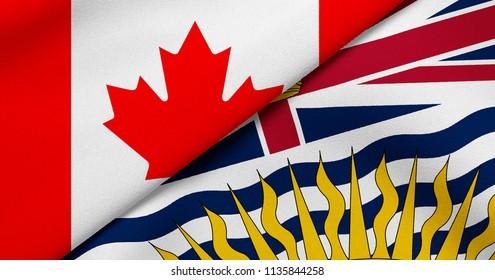 Flag of Canada and British Columbia