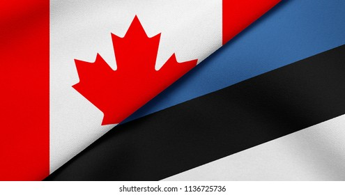 Flag of Canada and Estonia